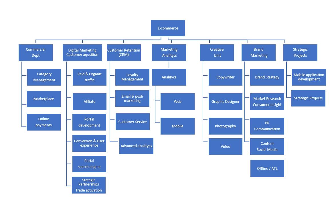 struktura organizacyjna e-commerce